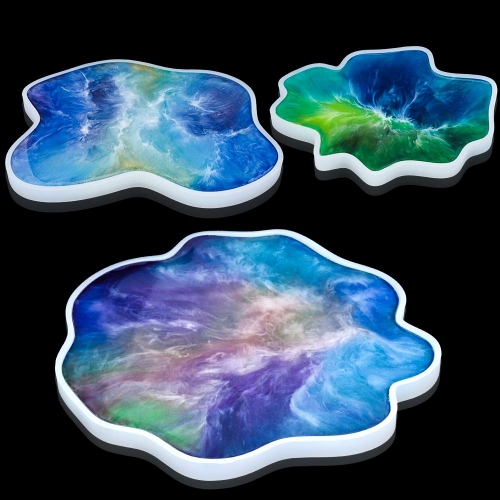Irregular Coaster Resin Molds