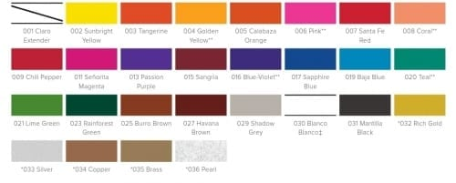 pinata color chart