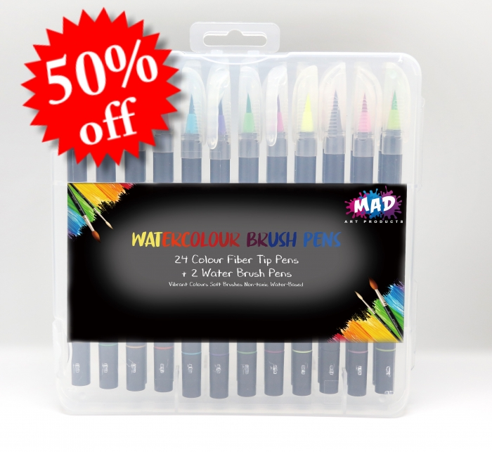 MAD Watercolour Brush Pens