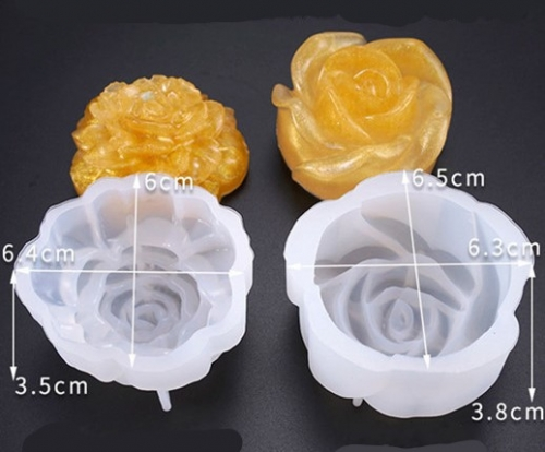 MAD Resin Rose Mold 2pcs