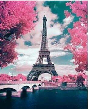 Eiffel Tower Diamond Dot Picture