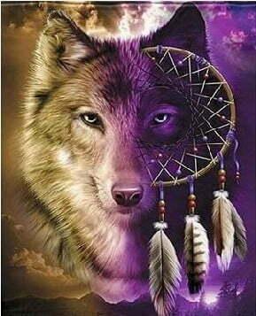 Wolf Diamond Dot Picture