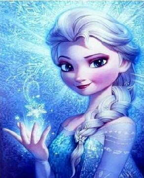 Elsa Frozen Diamond Dot Picture