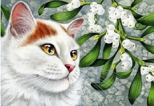 Cat Diamond Dot Picture